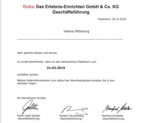 Finke In Paderborn Schließt Früher Radio Hochstift