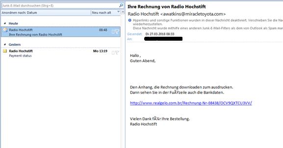 Achtung: Diese Mails sind nicht von uns! | Radio Hochstift